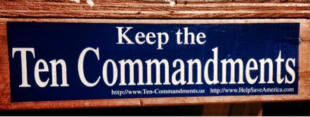 Keep the Ten Commandments Roy Moore Sticker